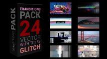 پروژه افترافکت مجموعه ترانزیشن گلیچ Glitch Transitions Pack