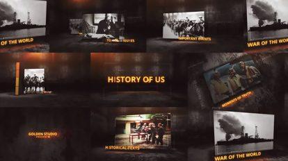 پروژه افترافکت نمایش اتفاقات تاریخی Glitches History of Us
