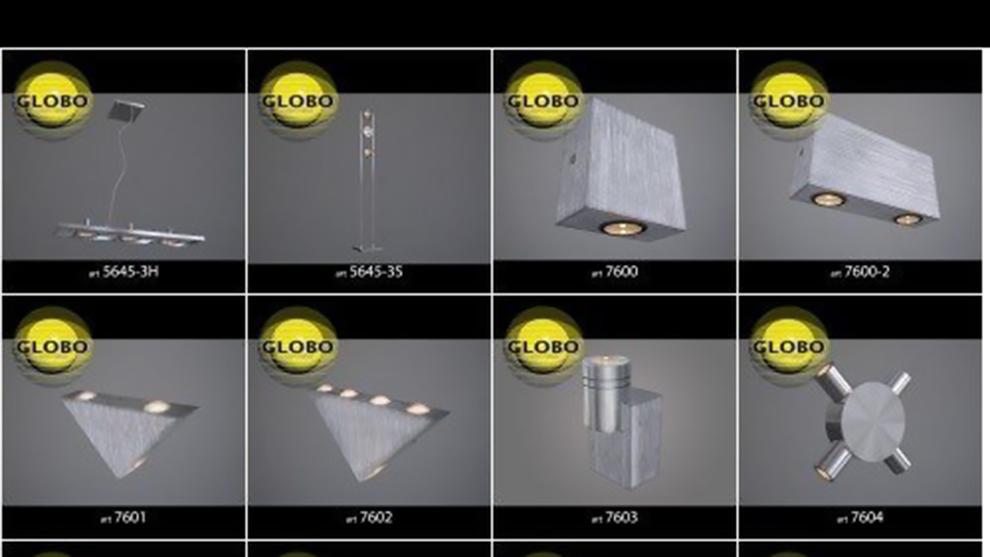 مجموعه مدل سه بعدی اجزای نورپردازی Globo Lighting