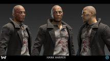 مدل سه بعدی کاراکتر هنک هارپر Hank Harper