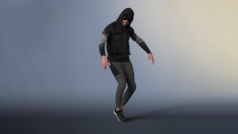 مدل سه بعدی رقصنده هیپ هاپ Hip Hop Dancer Animated Model
