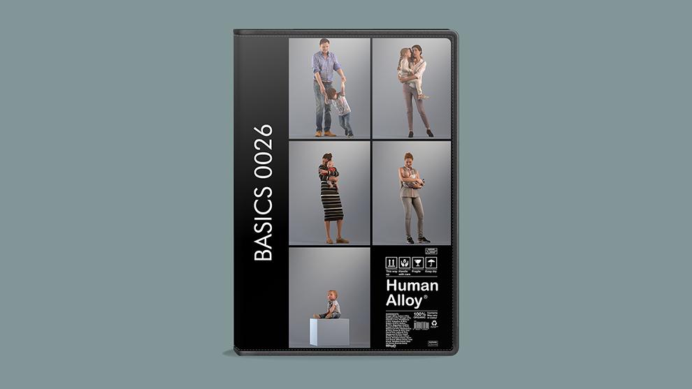 مجموعه مدل سه بعدی انسان Human Alloy Basics 0011