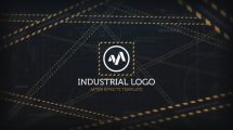 پروژه افترافکت نمایش لوگو صنعتی Industrial Logo Reveal