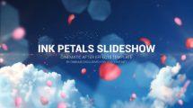 پروژه افترافکت اسلایدشو با گلبرگ Ink Petal Slideshow