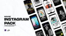 پروژه افترافکت مجموعه استوری اینستاگرام Insane Instagram Pack