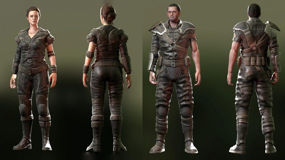 مدل سه بعدی کاراکتر نظامی Leather Armour