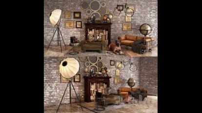 مدل سه بعدی ست دکوراسیون Loft Decorative Set