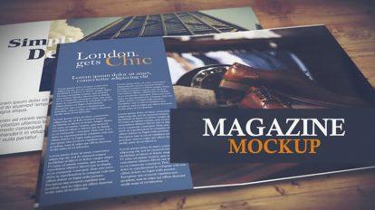 پروژه افترافکت موکاپ مجله Magazine Mockup