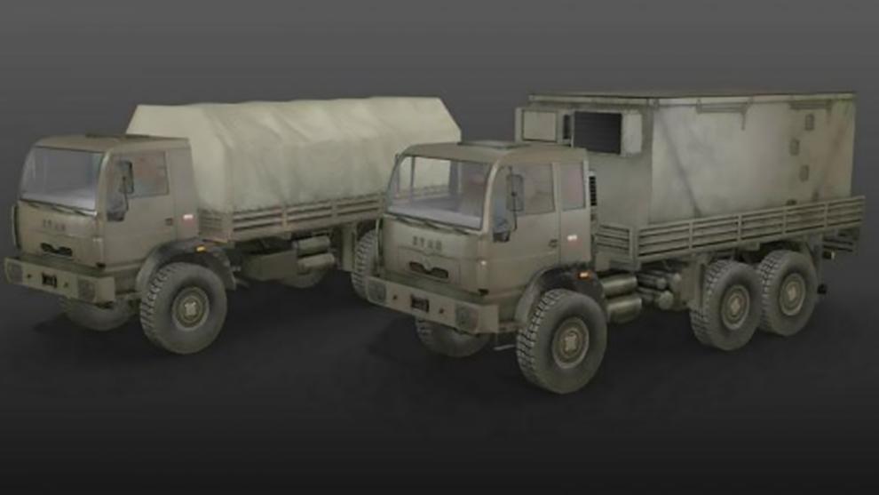 مدل سه بعدی کامیون نظامی Military Trucks