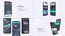 پروژه افترافکت تیزر تبلیغاتی اپلیکیشن موبایل Mobile App Promo
