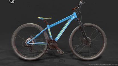 مدل سه بعدی دوچرخه کوهستانی Mountain Bike