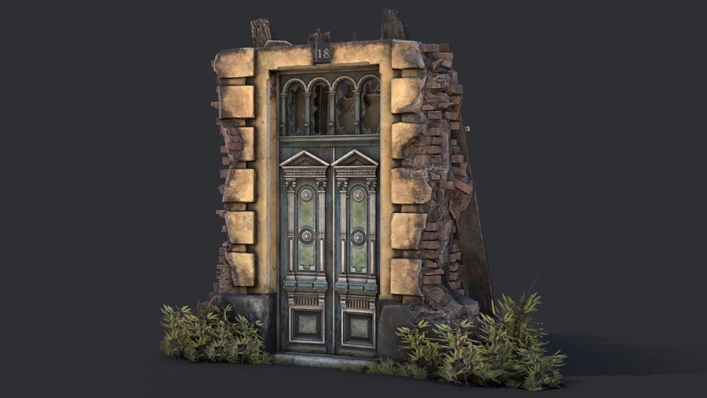 مدل سه بعدی در قدیمی Old Door