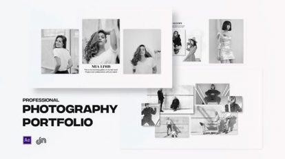 پروژه افترافکت نمایش نمونه کار عکاسی Photography Portfolio