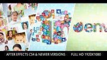 پروژه افترافکت نمایش لوگو با تصاویر Photos Icons Logo Formation
