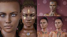 مدل سه بعدی کاراکتر زن Rayya for Genesis 8