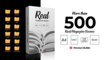 پروژه افترافکت ساخت تبلیغ مجله Real Magazine Builder