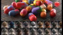 مجموعه متریال ردشیفت Redshift Shader Suite for C4D