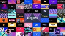 پروژه افترافکت مجموعه اجزای موشن گرافیک Rise Graphics Pack