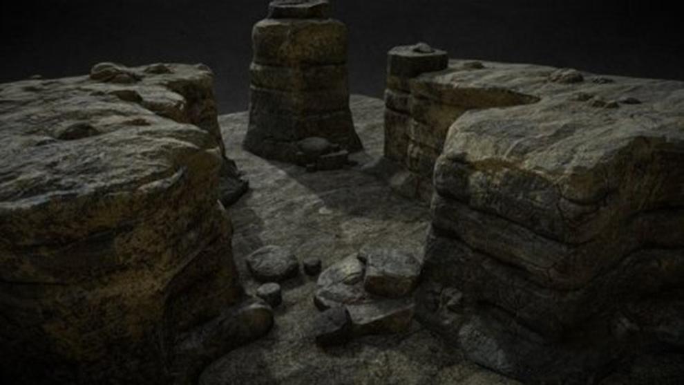 مجموعه مدل سه بعدی سنگ Rocks Set