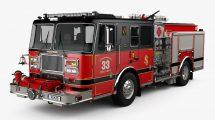 مدل سه بعدی ماشین آتش نشانی Seagrave Marauder Fire Truck
