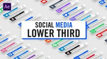 پروژه افترافکت زیرنویس شبکه اجتماعی Modern Social Media Lower Thirds