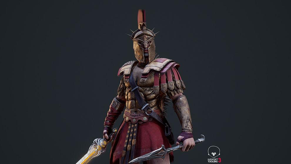 مدل سه بعدی جنگجو اسپارتان Spartan War Hero