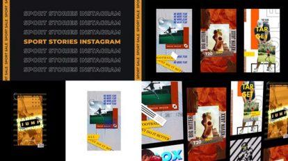 پروژه افترافکت مجموعه استوری اینستاگرام ورزشی Sport Stories Instagram
