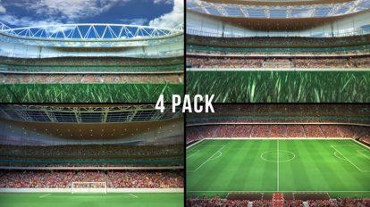 فوتیج موشن گرافیک استادیوم فوتبال Stadium
