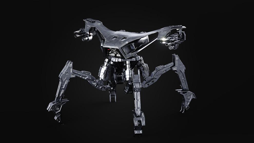 مدل سه بعدی ربات جنگی T2 Hunter Killer Centurion
