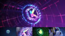 پروژه افترافکت نمایش لوگو هایتک Tech Logo Transition