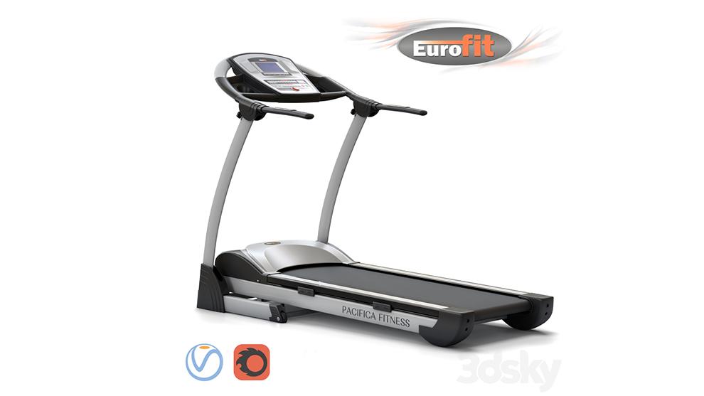 مدل سه بعدی تردمیل Pacifica Fitness Treadmill