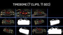 مجموعه فوتیج موشن گرافیک بمب ساعتی Time Bomb Countdown