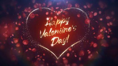 پروژه افترافکت تبریک ولنتاین Valentine