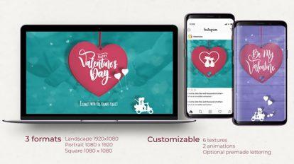 پروژه افترافکت افتتاحیه روز ولنتاین Valentines Day Opener