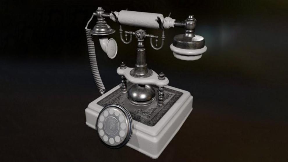 مدل سه بعدی تلفن قدیمی Vintage Telephone