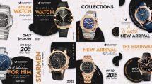 پروژه افترافکت پست اینستاگرام تبلیغاتی ساعت Watch Promo Instagram
