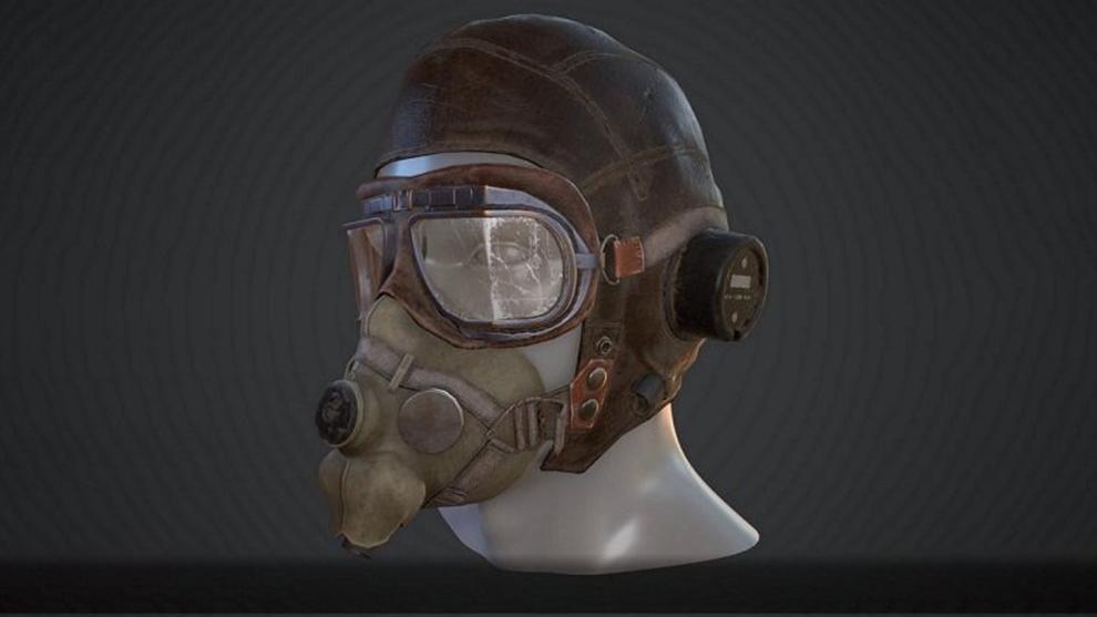 مدل سه بعدی کلاه خلبان جنگی WW2 Aviator Helmet