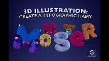 آموزش ساخت تایپوگرافی سه بعدی با کاراکتر در سینمافوردی