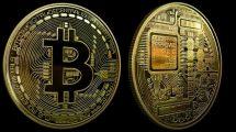 فوتیج موشن گرافیک چرخش بیت کوین Bitcoin Seamless Loop