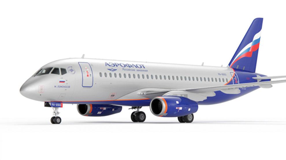 مدل سه بعدی هواپیما Aircraft SSJ-100 Aeroflot