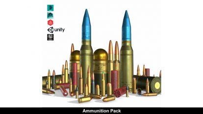 مجموعه مدل سه بعدی گلوله Ammunition Pack