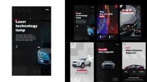 پروژه افترافکت استوری اینستاگرام تبلیغ خودرو Auto Stories Instagram