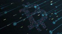فوتیج موشن گرافیک زمینه متحرک بیت کوین Bitcoin Cryptocurrency