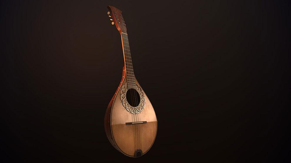 مدل سه بعدی ساز مندولین Bowlback Mandolin