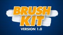 پروژه افترافکت ساخت افکت براش نقاشی Brush Kit