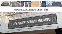 پروژه افترافکت موکاپ تبلیغات در شهر City Advertisement Mockups