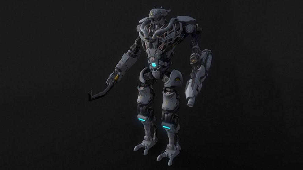 مدل سه بعدی ربات جنگی Colossus