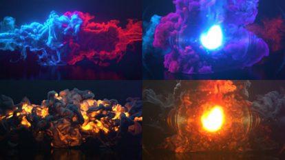 پروژه افترافکت نمایش لوگو با دود و آتش Smoke Fire Logo