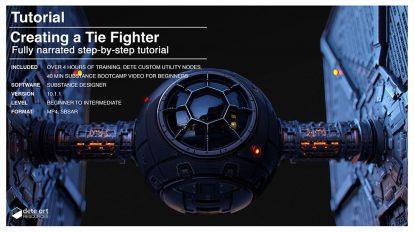 آموزش ساخت متریال برای جنگنده فضایی در سابستنس دیزاینر