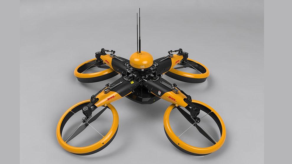 مدل سه بعدی درن ارسال محموله Delivery Drone